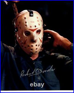 RICHARD BROOKER signed Autogramm 20x25cm FRIDAY THE 13 In Person autograph JASON