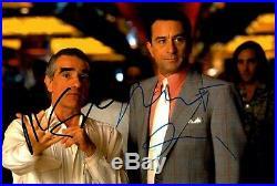 ROBERT DE NIRO SCORSESE signed Autogramm 20x30cm CASINO in Person autograph