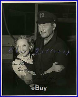 Rare 1950 John Wayne Personal Signed Autographed Photo To Marina Cisternas Forei
