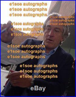Robert De Niro & Martin Scorsese signed 8x10 photo In Person Exact Proof
