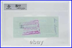 Rocky Marciano Signed Personal Check 10/28/1964 Slabbed BAS