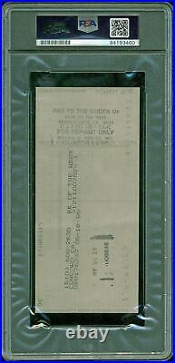 Ronald Reagan Signed 1995 Personal Check Auto Graded Mint 9! PSA Slabbed & JSA