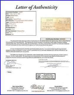 Rosa Parks signed Personal Check JSA LOA Rare Item Civil Rights Z646