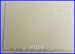 Ruth Bader Ginsburg Signed Autographed Personal Supreme Court Chamber Card 3.5x5