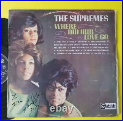 SIGNED Mary Wilson Supremes Where did our love go Australia 1964 LP autograph