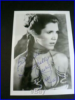 STAR WARS CARRIE FISHER GALACTICALLY YOURS 5x7PERSONAL AUTOGRAPH SIGNED