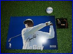Seve Ballesteros personally signed photo and his personal solid silver keyring