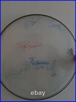 Sex Pistols Autographs. Full Set Signed Remo Drum Obtained In Person