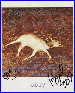 Sex Pistols Signed Photo Genuine In Person Steve Jones Paul Cook Eddie Tenpole