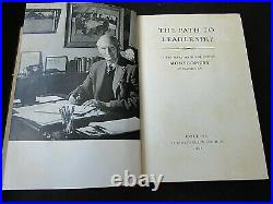Signed / Autographed The Path to Leadership by Field Marshal Montgomery