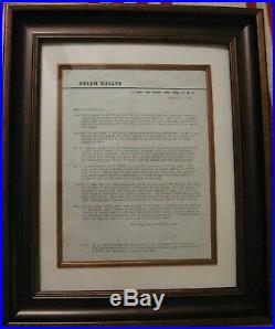 Signed Helen Keller Letter on Personal Letterhead 1953