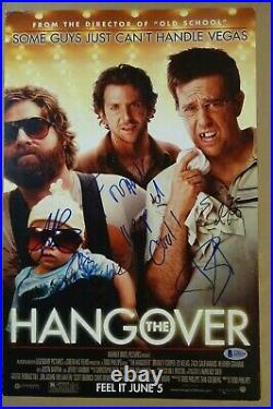 Signed THE HANGOVER Autographed By 4 11x17 Photo BECKETT COA LOA Personalized