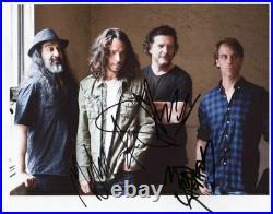 Soundgarden (Band) Fully Signed 8 x 10 Photo Genuine In Person Chris Cornell COA