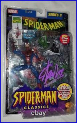 Stan Lee Signed Spiderman Classics Figure Toy Comic In Person Proof Autograph