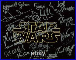 Star Wars Photo Signed In Person By 22! RARE! G65