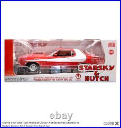 Starsky and Hutch David Soul Paul Michael Glazer 118 model car cast signed UACC
