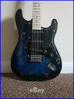 Stereophonics' hand signed in person Stratocaster style guitar, by all 5 members