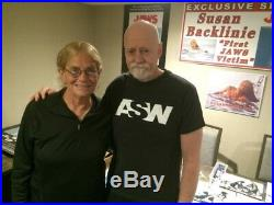 Susan Backlinie & Roger Kastel 11 X 14 In Person Signed Photo From The Film Jaws