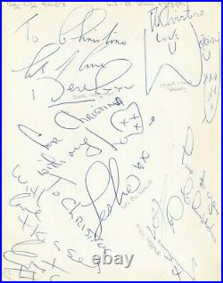THE BAY CITY ROLLERS ORIGINAL AUTOGRAPHS / 1975 in-person / BCR