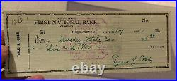 TY COBB SIGNED 1957 PERSONAL CHECK JSA CERTIFIED AUTHENTIC AUTOGRAPH Grade 9