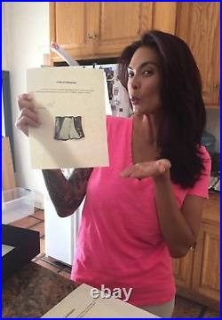 Tera Patrick Signed Worn Clincher & Boots from Personal Website PSA/DNA COA