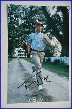 Tom Hanks signed 20x30cm Forrest Gump Foto Autogramm / Autograph In Person