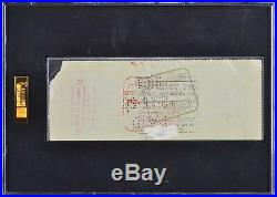 Ty Cobb Signed Slabbed Personal Check Detroit Tigers SGC JSA X39209