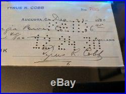 Ty Cobb signed autographed personal check 1930 SGC AUthentic
