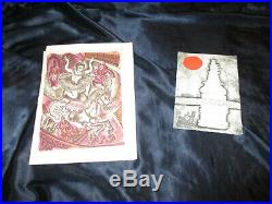 V Lge Portfolio Hand-signed Personal Greetings Cards from Famous Artists etc