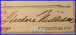 Vintage 1975 Ted Williams Signed Personal Check PSA/DNA Gem Mint 10