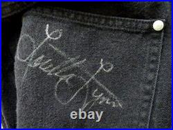 Vintage LORETTA LYNN Signed BLACK JEANS with AUTOGRAPH & LORETTA'S PERSONAL COA