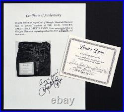 Vintage LORETTA LYNN Signed WRANGLER JEANS with AUTOGRAPH & LORETTA'S PERSONAL COA