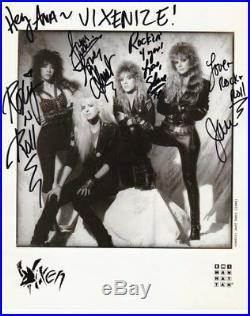 Vixen / Signed Photo / Group / In-person 100 % Original Autographs