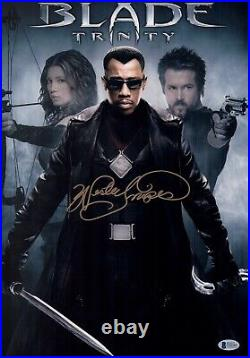 WESLEY SNIPES Signed BLADE 12x18 Photo IN PERSON Autograph BAS COA
