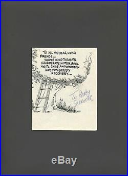 Will Eisner, Signed, Personal Note to Rodney Schroeter (mid 1980's) VF+